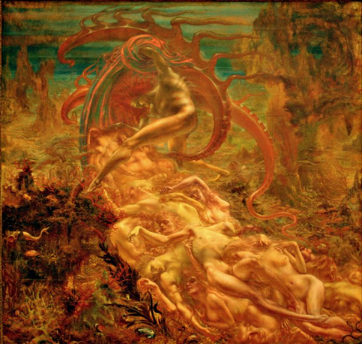 Jean Delville, The Treasures of Satan, 1894. Royal Museums of Fine Arts of Belgium, Brussels.
