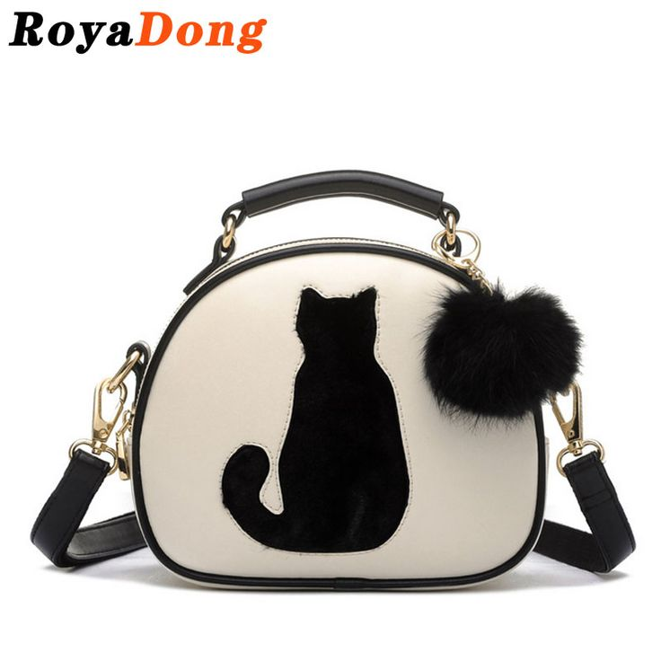 $37.71 (Buy here: https://alitems.com/g/1e8d114494ebda23ff8b16525dc3e8/?i=5&ulp=https%3A%2F%2Fwww.aliexpress.com%2Fitem%2FRoyaDong-Women-Messenger-Bags-Small-Ladies-Cat-Evening-Bag-Leather-Handbags-Designer-Hand-Bag-Luxury-Bolsa%2F32617684441.html ) RoyaDong 2016 Women Shoulder Bags Crossbody Bag For Women Handbag PU Leather Full Moon Candy Color Cute Cat With Fur Ball for just $37.71