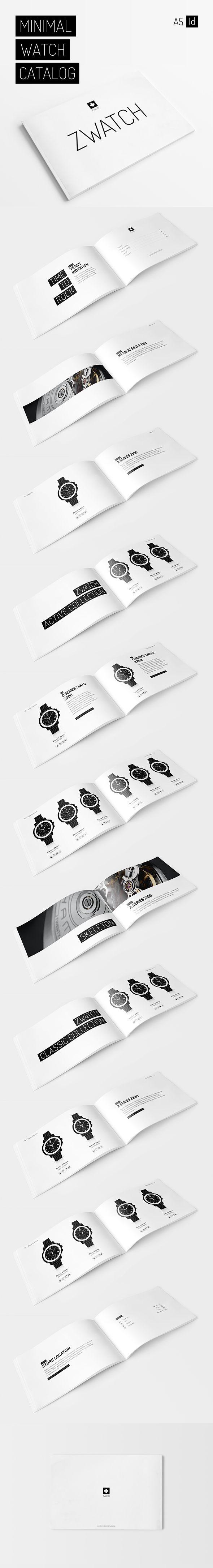 Minimal Watch Catalog on Behance