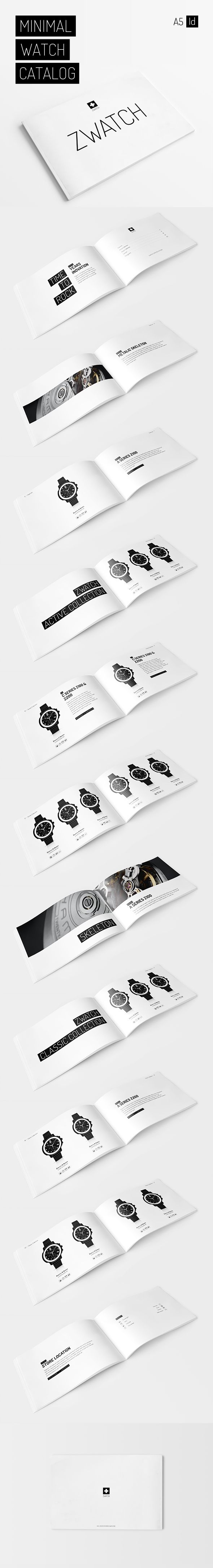 Minimal Watch Catalog on Behance