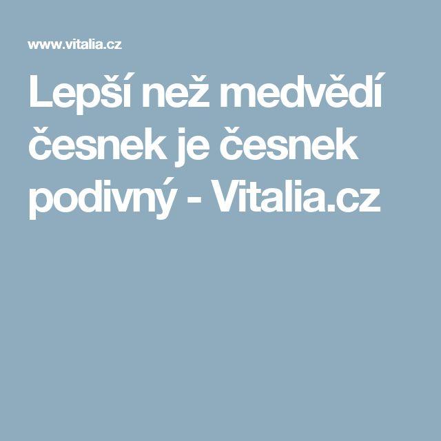 Lepší než medvědí česnek je česnek podivný - Vitalia.cz