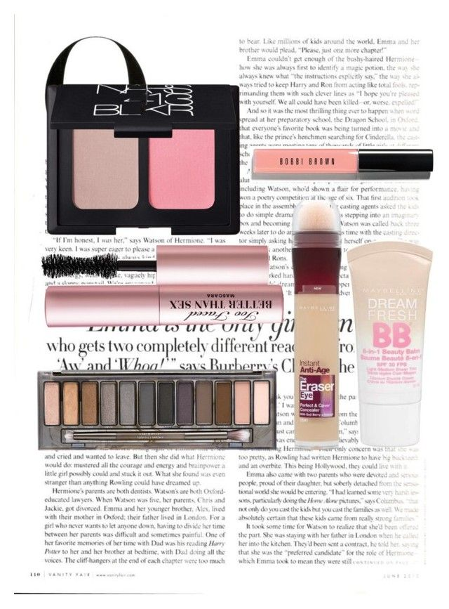 """""""Natural Makeup"""" by sarah-e11 on Polyvore featuring beauty, Vanity Fair, Maybelline, Urban Decay, Bobbi Brown Cosmetics, NARS Cosmetics and Too Faced Cosmetics"""
