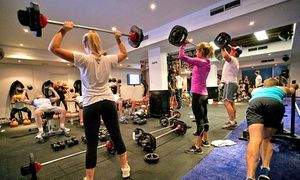 Groupon - One-Month Unlimited F45 Group Training for One ($ 19) or Two People ($35) at F45 Newtown, Erskineville (Up to $528 Value) in Erskineville. Groupon deal price: $19