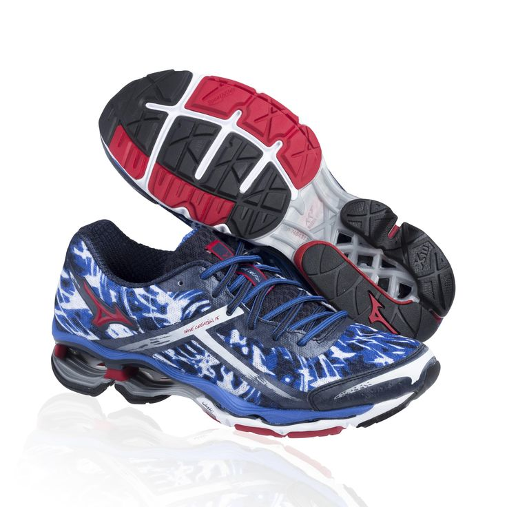 Mizuno Wave Creation 15 running shoe- olympian blue/chinese red