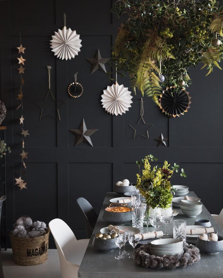 We've been playing Christmas songs all day - is that OK in November?! We just can't help but feel festive in our new winter wonderland showroom. Thanks to the talented @chloerobinsondesigns for creating our beautiful hanging centrepiece yesterday