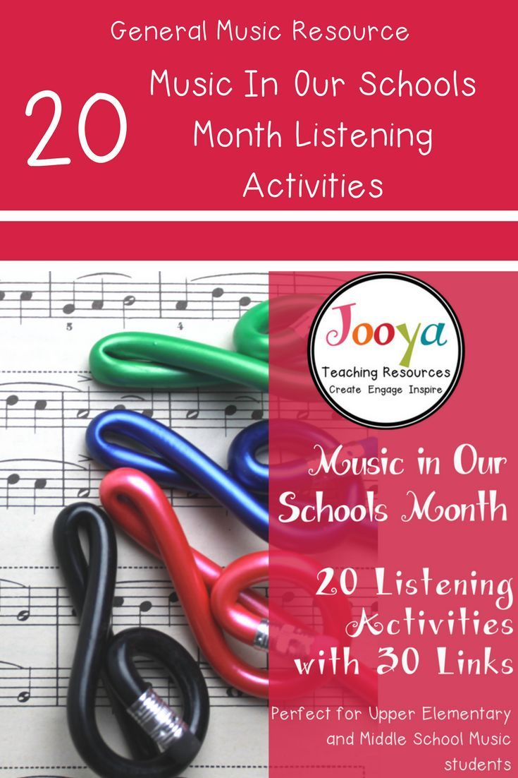 These 20 Music In Our Schools Month Listening Activities Are Perfect For The Middle School General Music Cla Teaching Music Theory Teaching Music Music Lessons [ 1102 x 735 Pixel ]