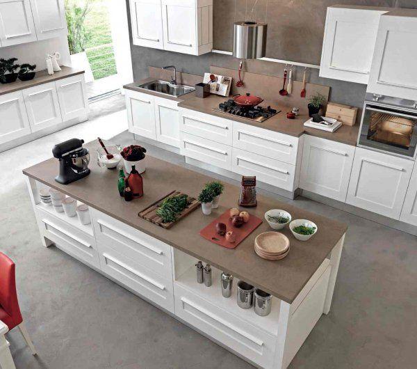 641 best Inspiration cuisine images on Pinterest Kitchen white - comment accrocher un meuble de cuisine au mur