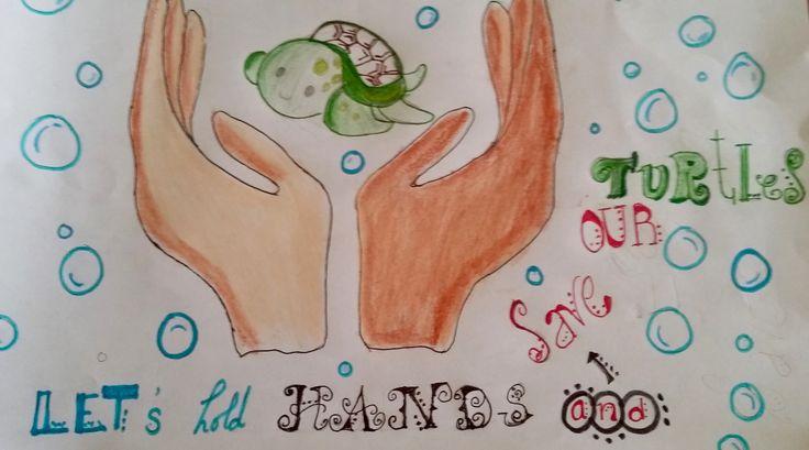 Let's hold hands and save our turtles. Eira de Omán. Octavo grado. 13 años. #quotes #turtles #EMPIEZAPORALGO #RACINGEXTINCTION