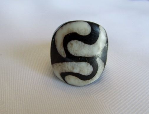 Shared Treasures Boutique -  African Polished Cow Bone Ring  - Mud Design -  Size 7, $16.50 (http://www.sharedtreasuresboutique.com/african-polished-cow-bone-ring-mud-design-size-7/)