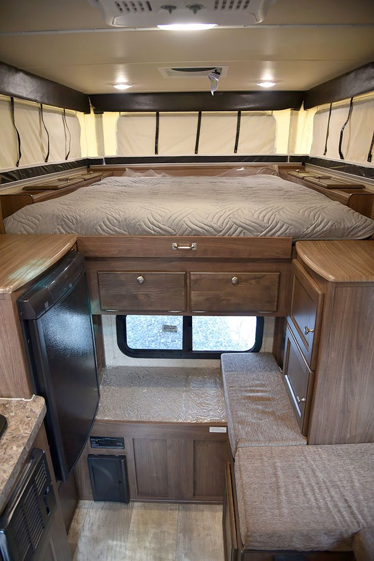 Palomino SS-550 pop-up truck camper inside, http://www.truckcampermagazine.com/camper-reviews/2016-palomino-ss-550-review/