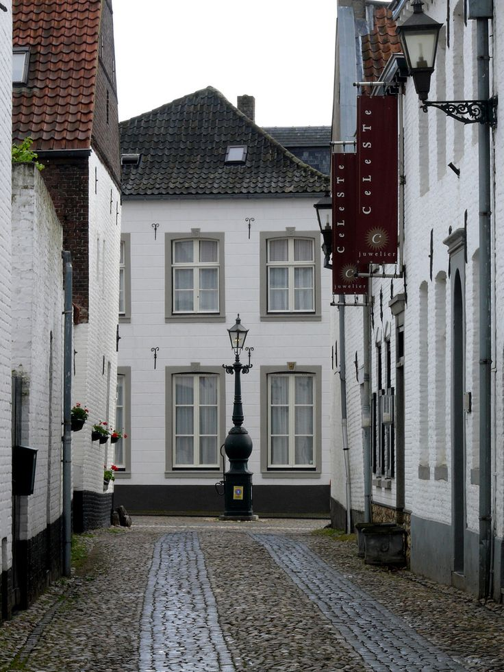 Het Witte Stadje Thorn, All white village of Thorn in Limburg, the Netherlands