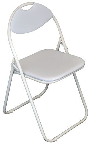 Padded Folding Chairs Uk Cotton Wedding Chair Covers Hire Harbour Housewares White Desk Frame Pack Of 1