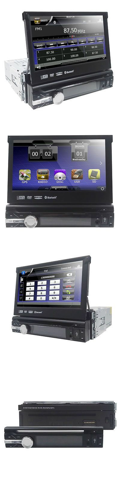 Vehicle Electronics And GPS: Single 1 Din 7 Hd Flip Up Gps Navigation Car Stereo Cd Dvd Mp3 Player Map Radio -> BUY IT NOW ONLY: $149.0 on eBay!