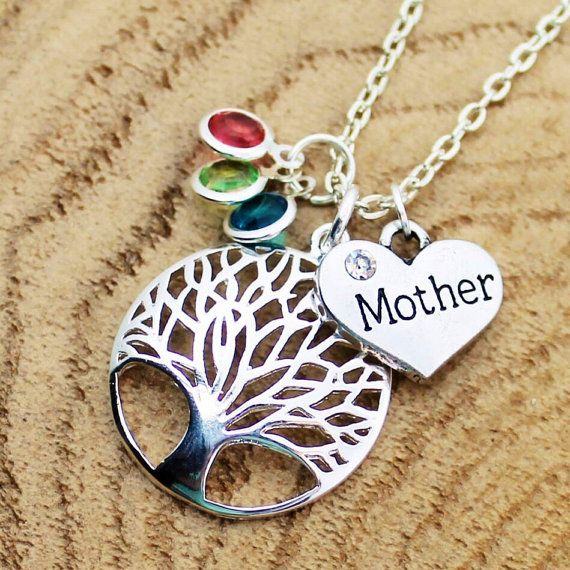Tree Of Life Mother Necklace Family Jewelry by RootedInLoveCustom