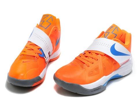 Nike Zoom KD IV 4 Team Orange Photo Blue White,Style code:473679-