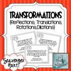 This scavenger hunt activity consists of 15 problems in which students will practice graphing transformations, including reflections, translations,...
