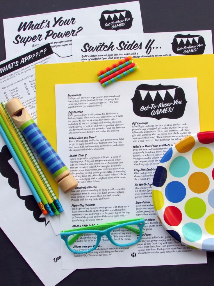 A great list of get-to-know-you games for groups, plus printables to make them easy to pull off last minute.