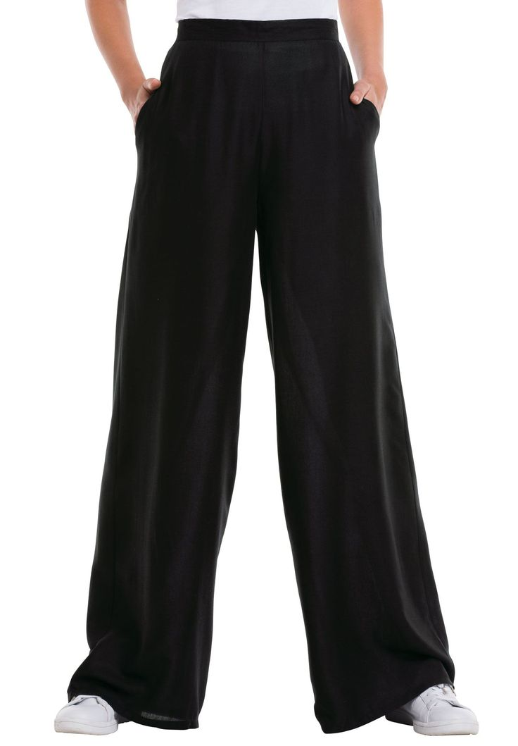Wide Leg Soft Pants by Ellos® - Women's Plus Size Clothing