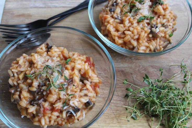 Cremet svamperisotto med tomat og mozzarella - By Sachse