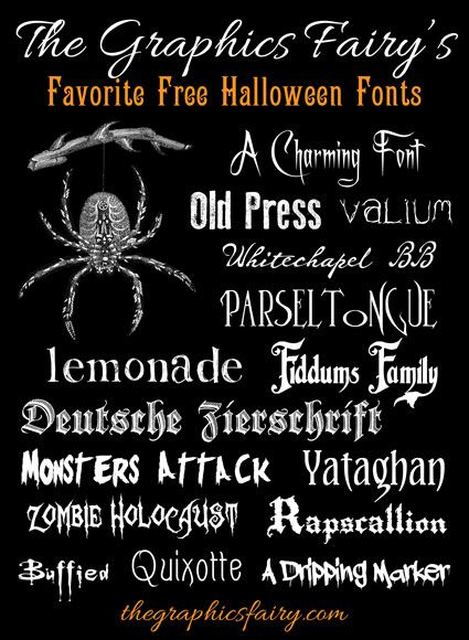 Frightfully Good Free Halloween Fonts - The Graphics Fairy