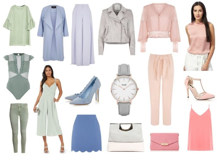 A swirl of cotton candy hues are popping up everywhere this season. Get the look from our amazing stores here at Whitewater Shopping Centre! 1.Dress, Zara 2.Coat, River Island 3.Trousers, River Island 4.Jacket, River Island 5.Blouse, New Look 6.Blouse, Debenhams 7.Bodysuit, River Island 8.Jumpsuit, Debenhams 9.Heels €52 , Dune London 10.Cluse Watch, Kilkenny Shop 11.Trouser, Oasis 12.Heels, Debenhams 13.Jeans, H&M 14.BlSkirt, Oasis 15.Bag, Parfois 16.Pink Clutch Bag, Dune London 17.Cami…