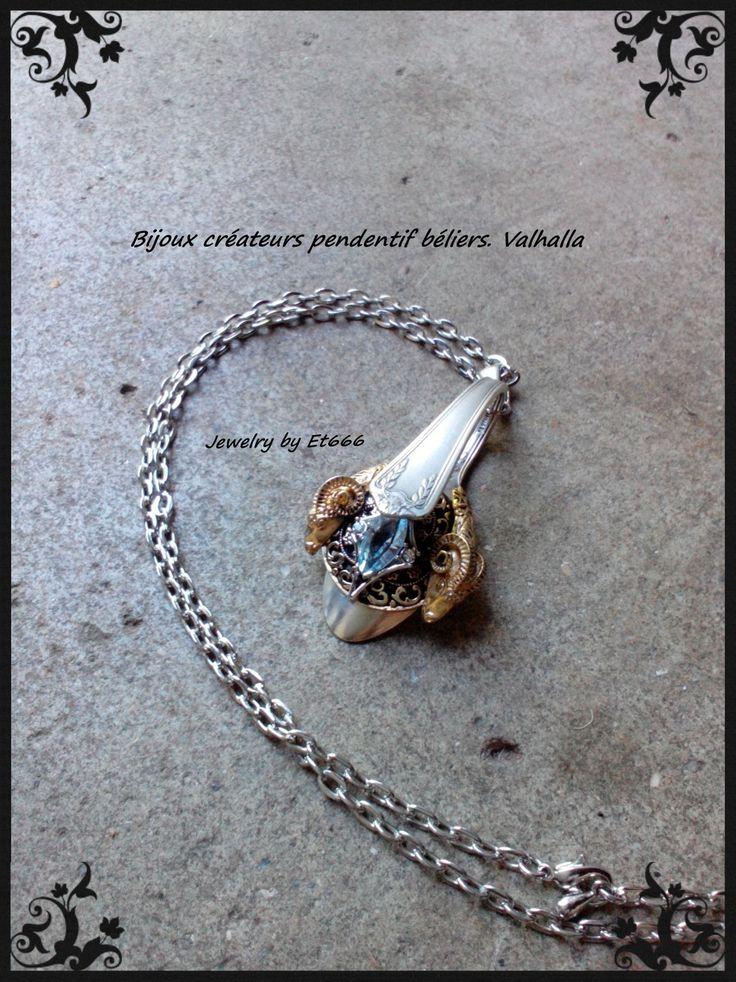 Bijoux créateurs pendentif béliers. Valhalla : Pendentif par et666