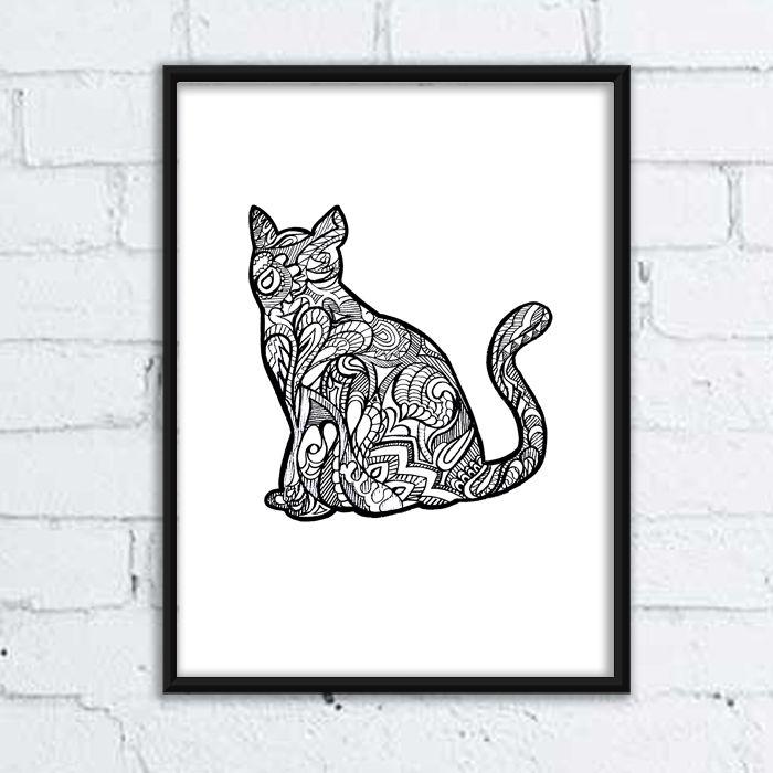 #dog #pies #grafika #buldog #rysunek #ilistracja #illustration #mandala #wzory #pozytywne #wnętrza #kot