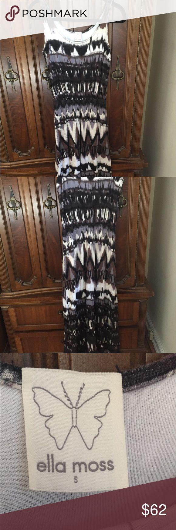 Ella Moss Maxi Dress Brown Tribal Maxi Dress Ella Moss Dresses Maxi