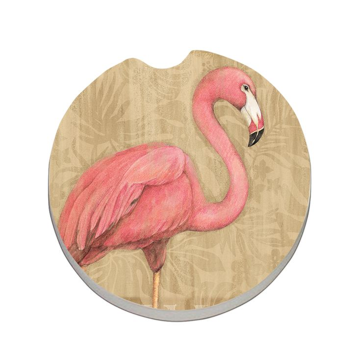 Charming Car Coaster Bulk Flamingo At Rest