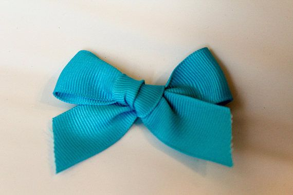 Blue Grosgrain Ribbon BowBlue BowHandtied BowNylon