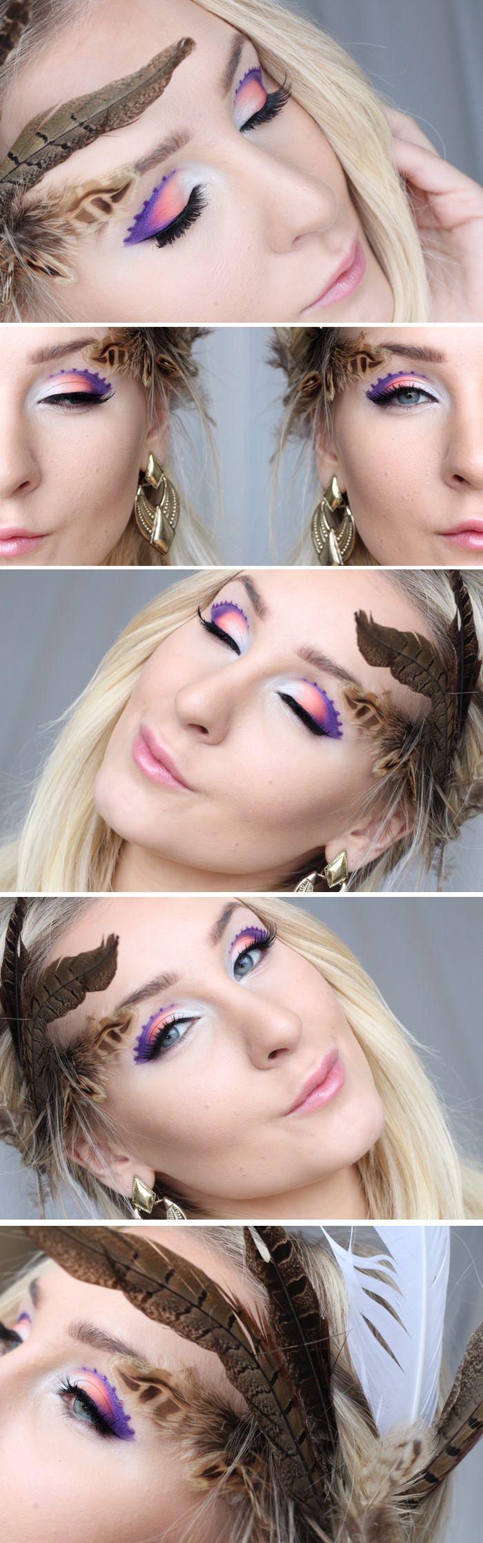 Dagens makeup – futuristic purple | Helen Torsgården – Hiilens sminkblogg