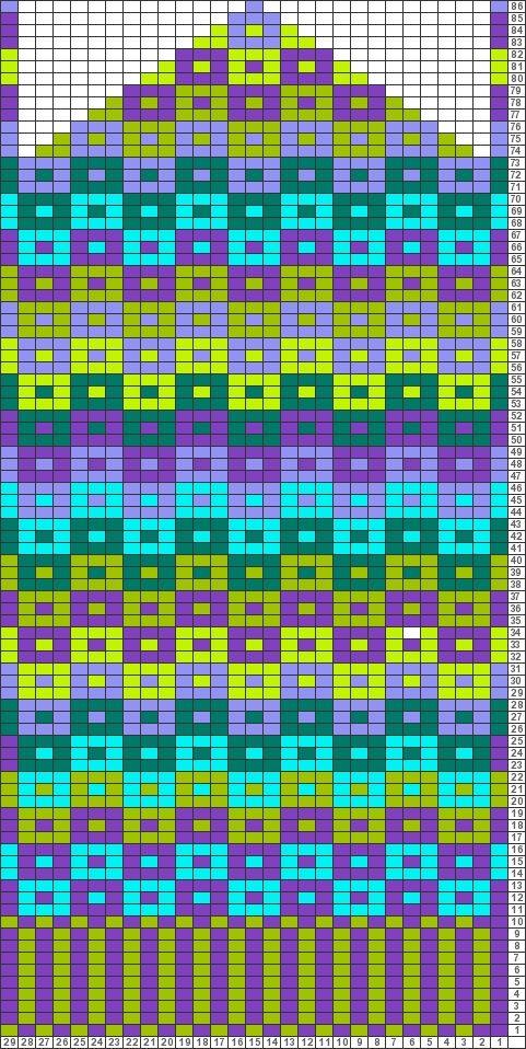 Gráficos Tricksy Knitter: Rutprickiga Vantar por garnlek