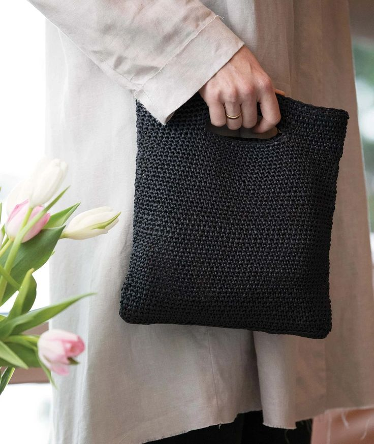 Lovely Lace Clutch Free Knitting Pattern