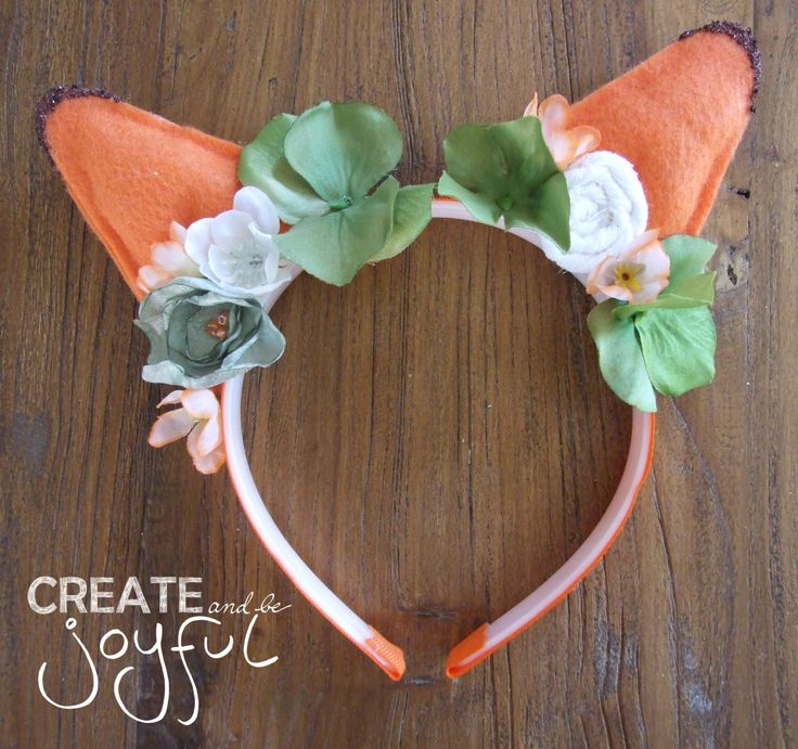 Zootopia Inspired Fox Headband, Nick Wilde Inspired, Flower Fox Headband, Fox cosplay, Fox Ears, Zootopia Costume #WD0003 by CreateAndBeJoyful on Etsy