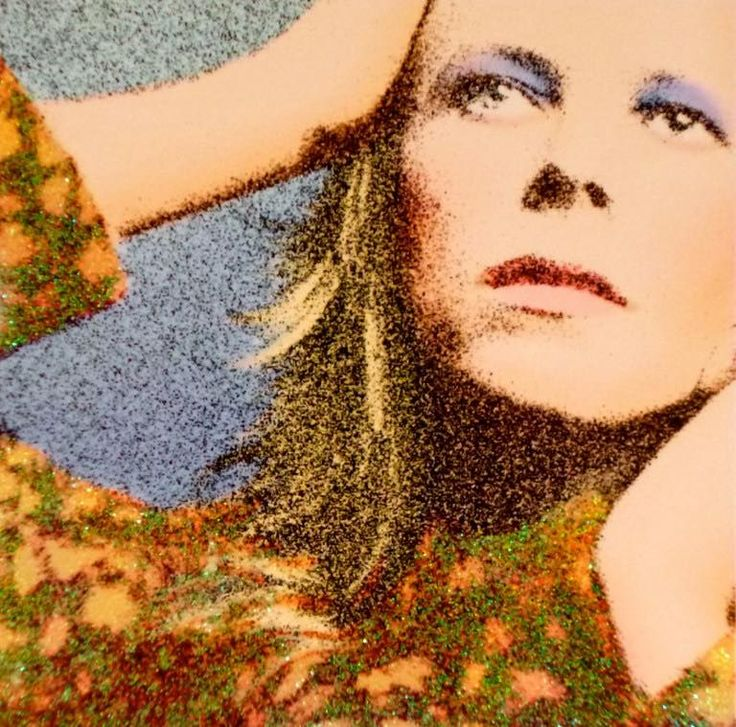 Hunky Dory print by Terry Pastor, creator of the Hunky Dory album cover in 1971.
