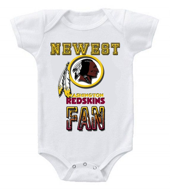 NEW Football Baby Bodysuits Creeper NFL Washington Redskins