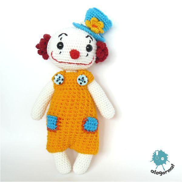 www.alegorma.com  #szydelko #crochet #alegorma #zabawkarstwo #amigurumi #naszydelku #handmade #clown