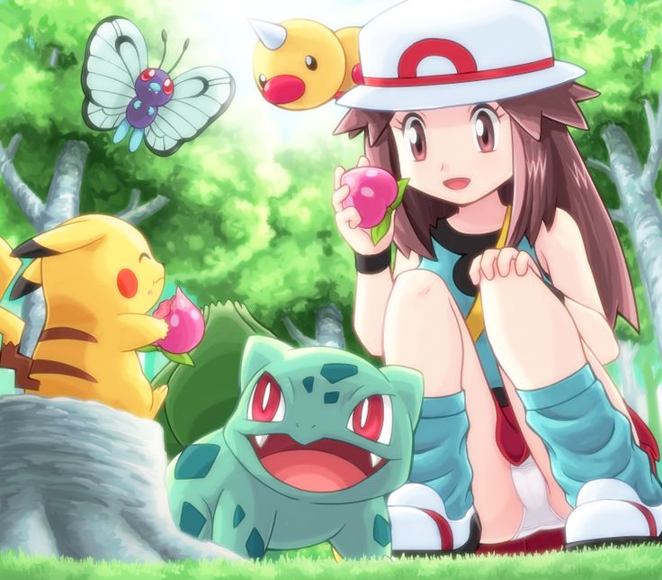 I think this girl's name is Leaf from pokemon Leafgreen version!