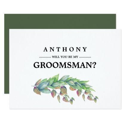 Will you be my Groomsman? Custom Invitations - wedding invitations cards custom invitation card design marriage party