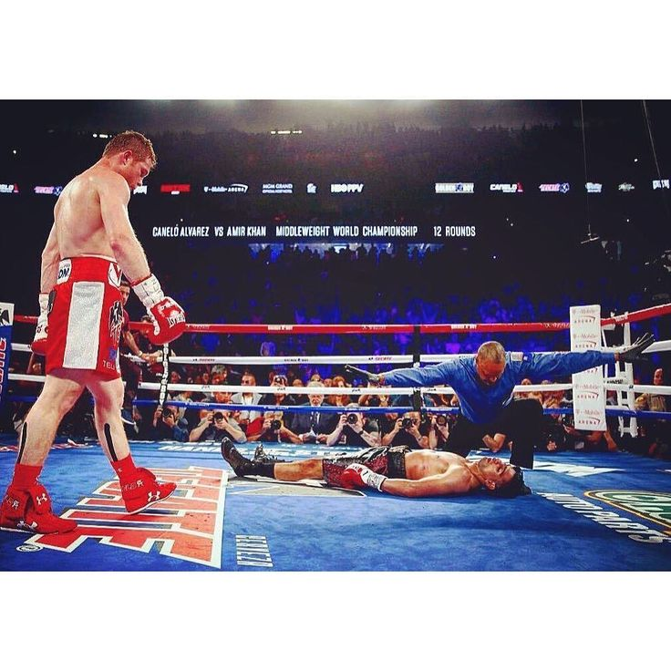 Canelo Alvarez wins via dramatic knockout in the 6th round over Amir Khan #boxing #CaneloKhan