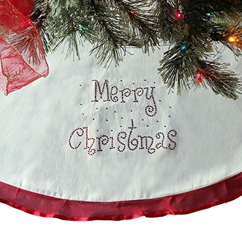 48 Christmas Tree Skirt Cream With R