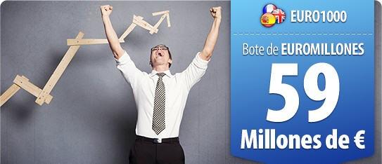 Vaya comienzo de semana, nosotros estamos súper contentos porque el sábado dimos un premio en Euromillones y ayer, HICIMOS MILLONARIO A UNO DE NUESTROS CLIENTES al repartir un premio de casi 6 millones de euros en el sorteo de El Gordo de la Primitiva. Por si fuera poco, el bote de Euromillones se ha acumulado y mañana hay en juego, nada menos que 59 millones. ¿Quién quiere ser el próximo?  http://www.ventura24.es/euromillones/euromillones.do?idpartner=social_source