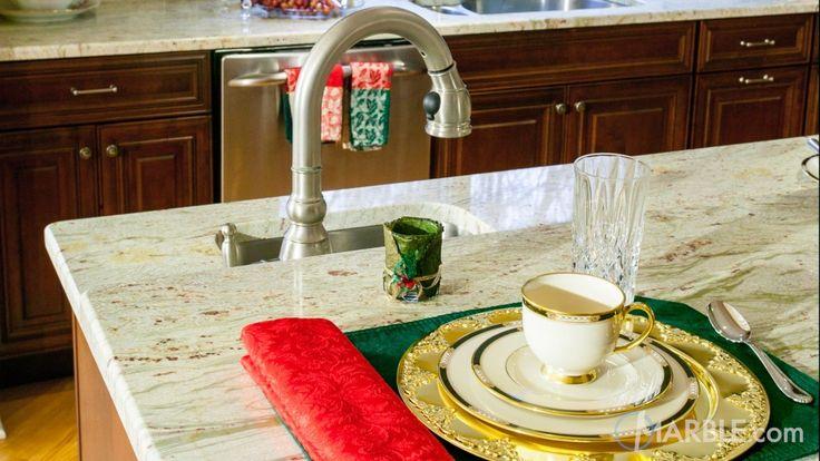 Ambrosia White Granite Kitchen Countertop