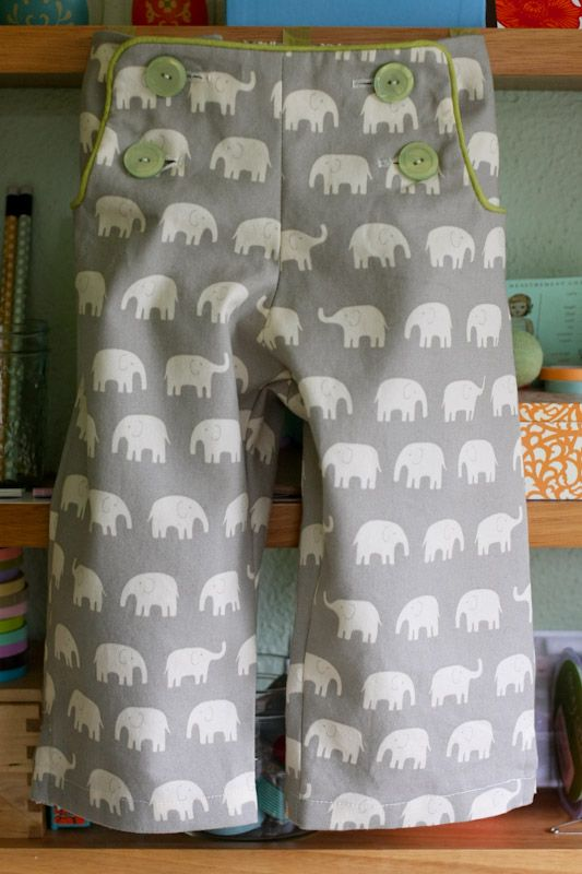 """These elephant pants from Gail of Probably Actually make me smile...especially needed this AM after the 2:30 """"i want to do a puzzle"""" wake-up!!"""
