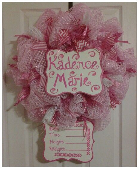 Hospital Baby door wreath $70 + $15 shipping To place an order find us on facebook@  Wreaths by Kim Ryder