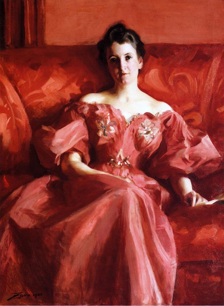 """""""Portrait of Mrs. Howe"""" (1900) by Anders Zorn (1860-1920)."""
