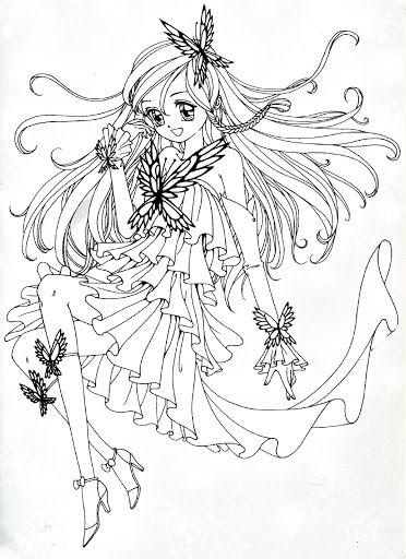 Coloring book yellow (magical girl) - Mama Mia - Picasa ...