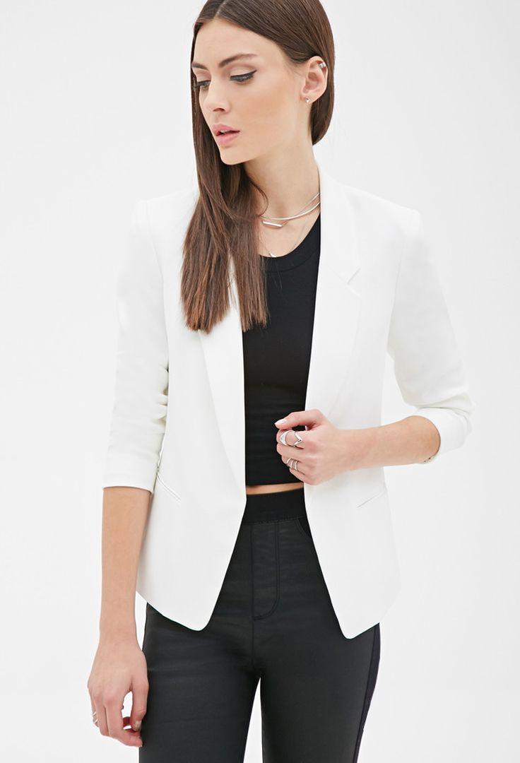 Textured Open-Front Blazer - Jackets & Coats - Blazers - 2000118981 -  Forever 21