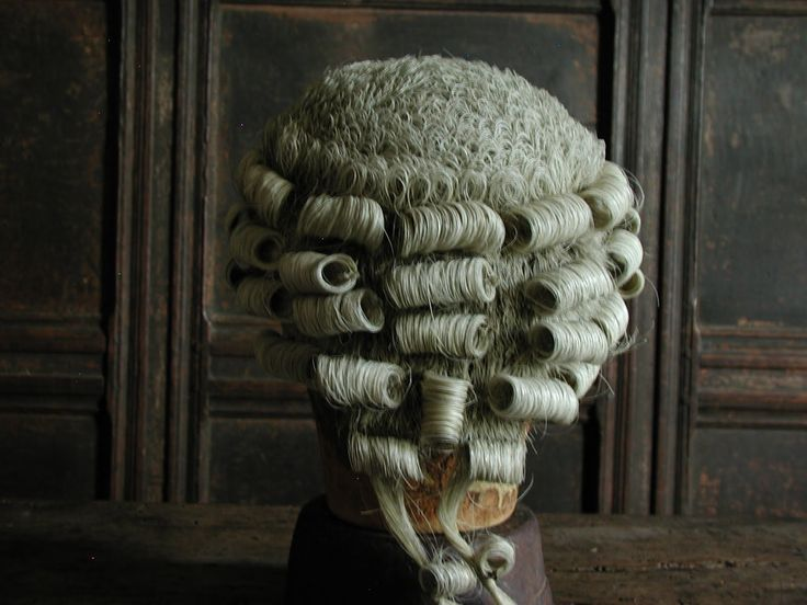 1700s powdered wig