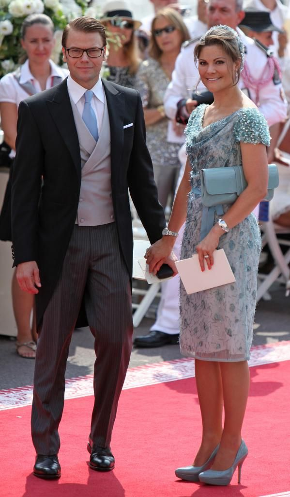 Crown Princess Victoria And Prince Daniel At The Wedding Of Albert July 2017